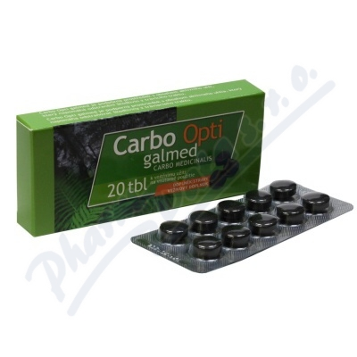 Carbo medicinalis Opti Galmed 300 mg 20 tablet