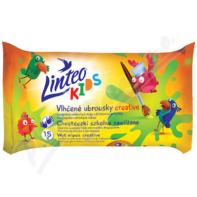 Vlhčené ubrousky LINTEO KIDS creative 15ks