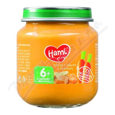 Hami příkrm mrkev s telecím a brambory 125g 6M