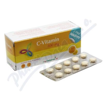 Vitamin C 100mg tbl.40+10 Moje lékárna
