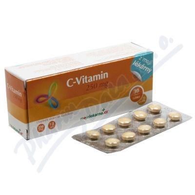 Vitamin C 250 mg 30+10 tablet Moje lékárna