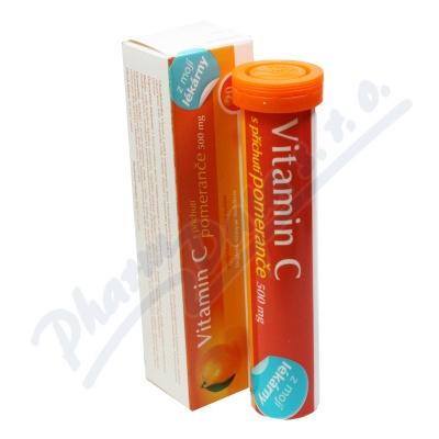 Vitamin C 500 mg pomeranč 20 tablet Moje lékárna