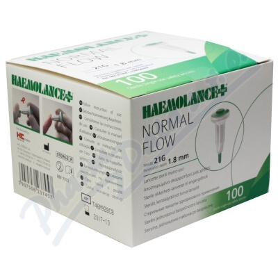Lanceta HAEMOLANCE PLUS Normal Flow 100ks