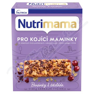 Nutrimama cereál.tyčinky brusinky&čokoláda 5x40g
