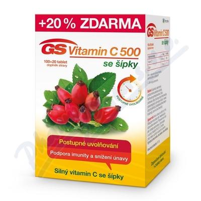 GS Vitamin C500 se šípky tbl.100+20