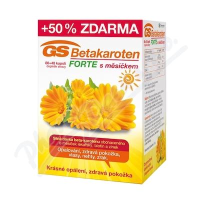 GS Betakaroten Forte s měsíčkem 80+40 kapslí