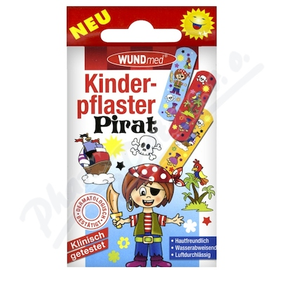Náplast WUNDmed dětská BOYS Piráti 10ks