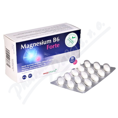 Magnesium B6 Forte 50+10 tablet Moje lékárna
