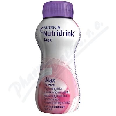 Nutridrink Max s př. jahodovou por.sol.4x300ml