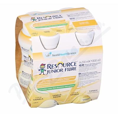 Resource Junior Fibre Vanilka por.sol.4x200ml