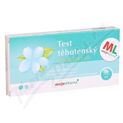 Test těhotenský Comfort 10 2ks Moje lékárna