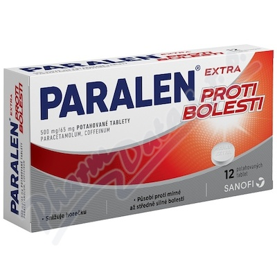 Paralen Extra proti bolesti 500/65mg tbl.flm.12