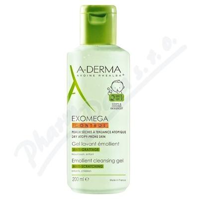 A-DERMA Exomega CONTROL Zvláčňující mycí gel 2v1 200ml