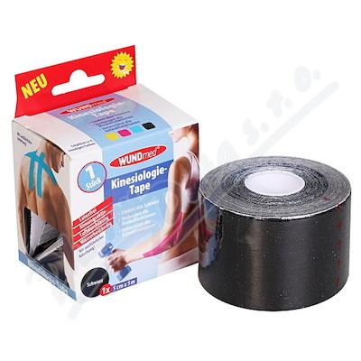 Kinezio.tejp.páska WUNDmed černá 5cmx5m 1ks