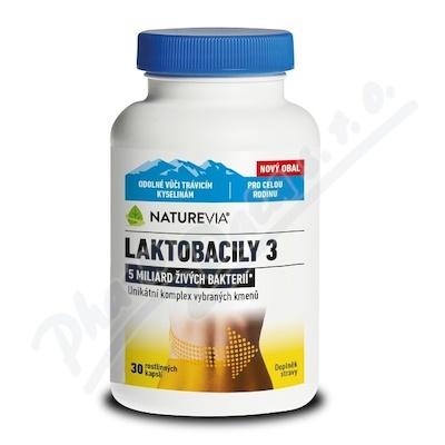 NatureVia Laktobacily 3 cps.30