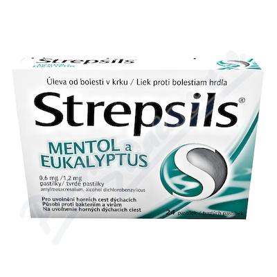 Strepsils Mentol a Eukalyptus 0.6mg/1.2mg pas.24