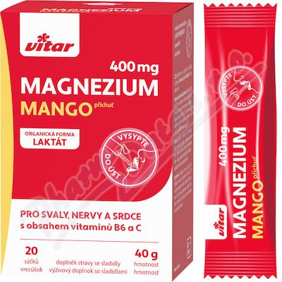 Vitar Magnezium 400mg+vit.B6+vit.C 20 sáčků
