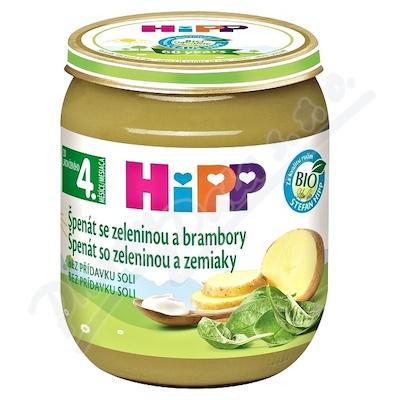 HiPP ZELENINA BIO Špenát se zelen. a brambory 125g