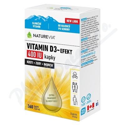 NatureVia Vitamin D3-Efekt 400 IU kap.10.8ml