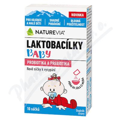 NatureVia Laktobacílky baby 10 sáčků
