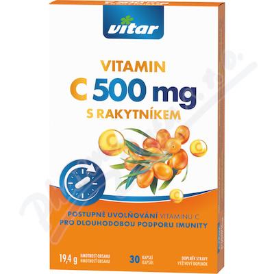 Revital Vitamin C 500mg+rakytník cps.30
