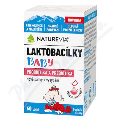 NatureVia Laktobacílky baby 60 sáčků