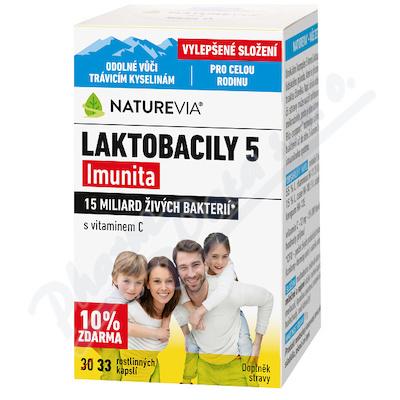 NatureVia Laktobacily 5 Imunita cps.33