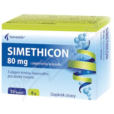 SIMETHICON 80mg s olejem kmínu kořenného cps.50