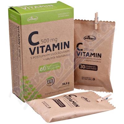 Vitar Vitamin C 500mg+rakytník EKO cps.60