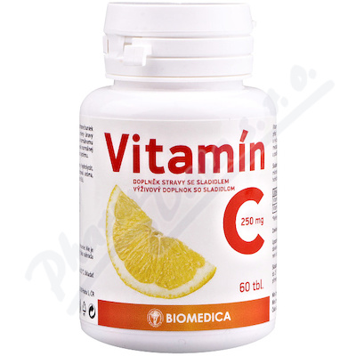 Vitamín C 250mg Biomedica tbl.60