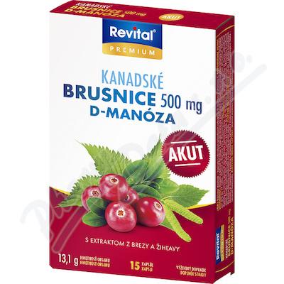 Revital Kanadské brusinky Akut 500mg cps.15
