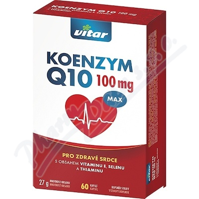 Vitar Koenzym Q10 100mg+Se+vit.E+thiamin cps.60