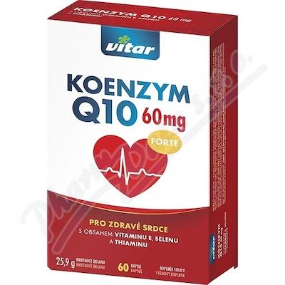 Vitar Koenzym Q10 60mg+Se+vit.E+thiamin cps.60