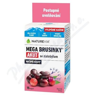 NatureVia Mega brusinky Akut cps.15