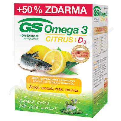 GS Omega 3 Citrus+D3 cps.100+50