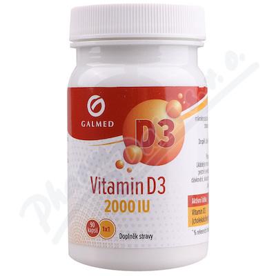 Vitamín D3 2000 IU Galmed 90 kapslí