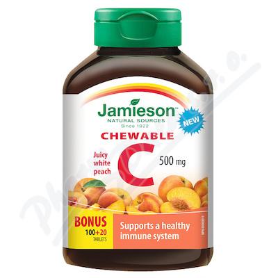 JAMIESON Vitamín C 500mg broskev chewable tbl.120