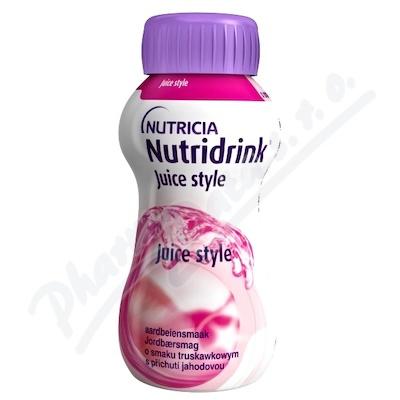 Nutridrink Juice style př.jahod. por.sol.4x200ml