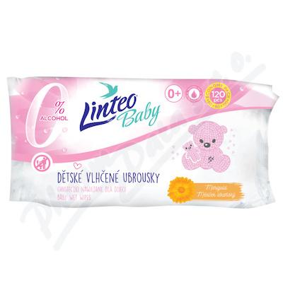 Vlhčené ubrousky LINTEO BABY s měsíčkem lék.120ks