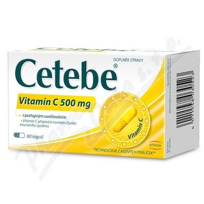 Cetebe vitamin C 500mg cps.60