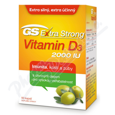 GS Extra Strong Vitamin D3 2000IU cps.90