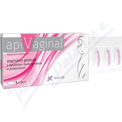 Apivaginal Vag.globule s kys.hyaluron.a propol.5ks