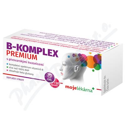 B-komplex PREMIUM tbl.20+10 Moje lékárna