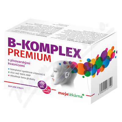 B-komplex PREMIUM 100+20 tablet Moje lékárna