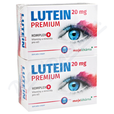 Lutein Premium 20 mg 60+60 tobolek Moje lékárna