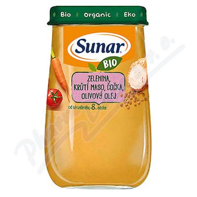 Sunar BIO příkrm Zelenina krůtí m.čočka ol.ol.190g