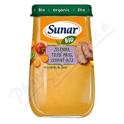 Sunar BIO příkrm Zelenina telecí maso ol.olej 190g