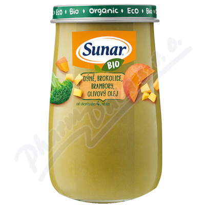 Sunar BIO příkrm Dýně brambory olivový olej 190g