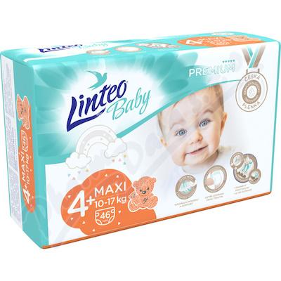 Dětské plenky LINTEO BABY PREM.MAXI+ 10-17kg 46ks