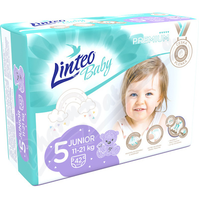 Dětské plenky LINTEO BABY PREM JUNIOR 11-21kg 42ks